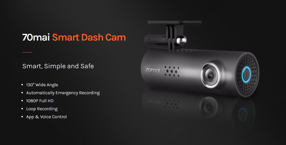 Kamera do auta 70mai Smart Dash Cam 1S